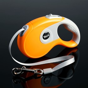 Рулетка DIIL, 5 м, до 40 кг, лента, прорезиненная ручка, оранжевая с серым