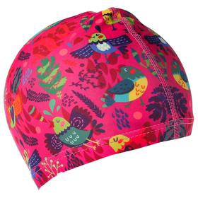 Шапочка для плавания, детская 'Птички' OL-011, текстиль Ош