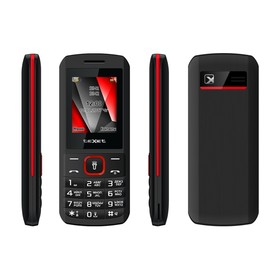 Сотовый телефон TEXET TM-127 Black Red