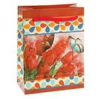 """Пакет подарочный """"Тюльпаны"""" 9,2 х 4,8 х 12,2 см"""