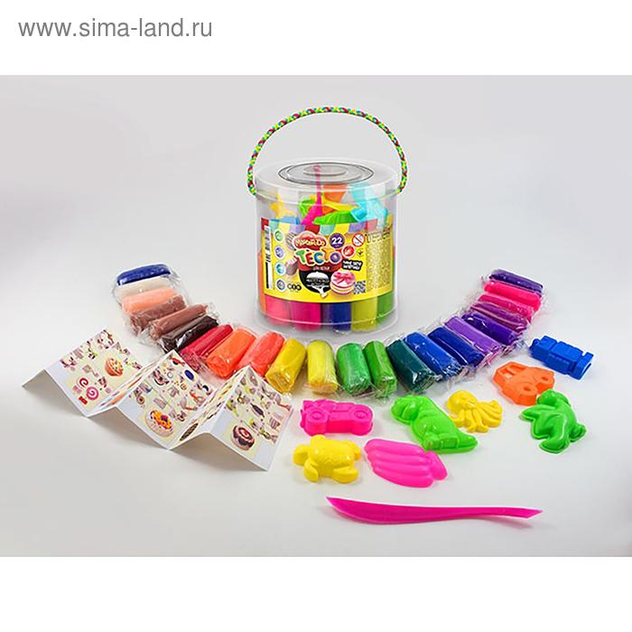 Набор для творчества «Тесто для лепки» MASTER DO, ведро большое 22 цвета Danko Toys