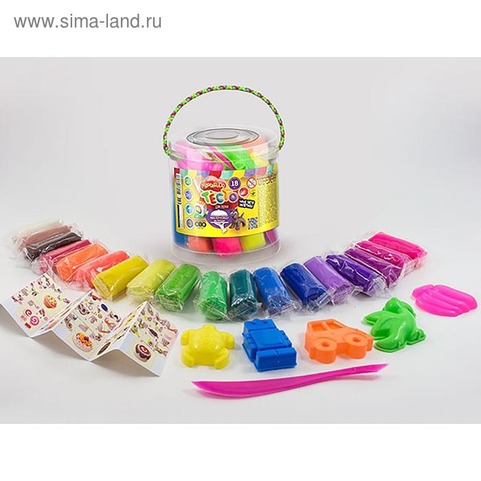 Набор для творчества «Тесто для лепки» MASTER DO, ведро среднее 18 цветов Danko Toys
