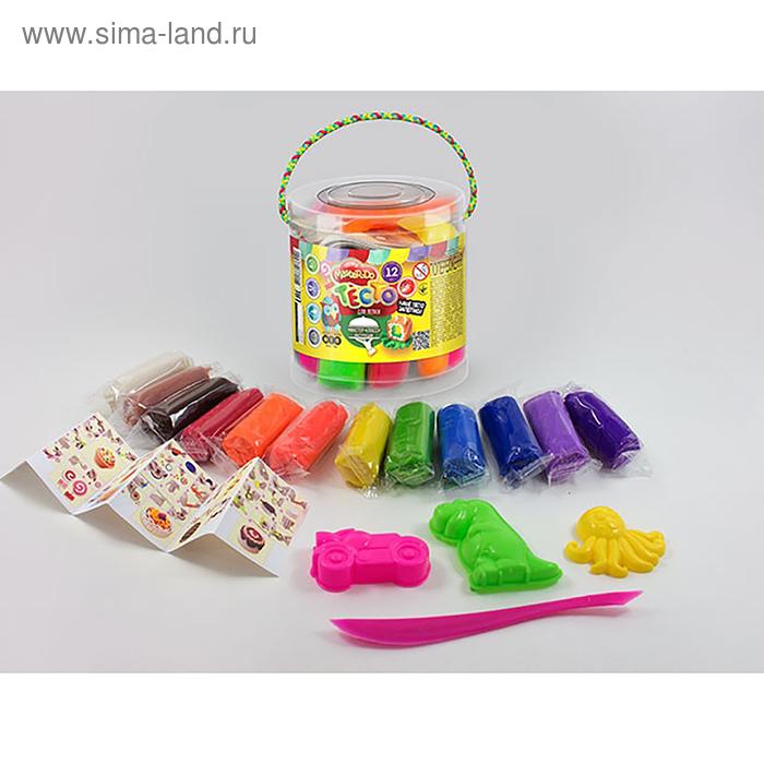 Набор длятворчества «Тесто для лепки» MASTER DO, ведро малое 12 цветов Danko Toys