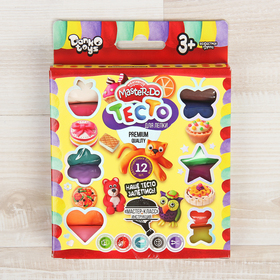 Набор для творчества «Тесто для лепки» MASTER DO, коробка эконом 12 цветов