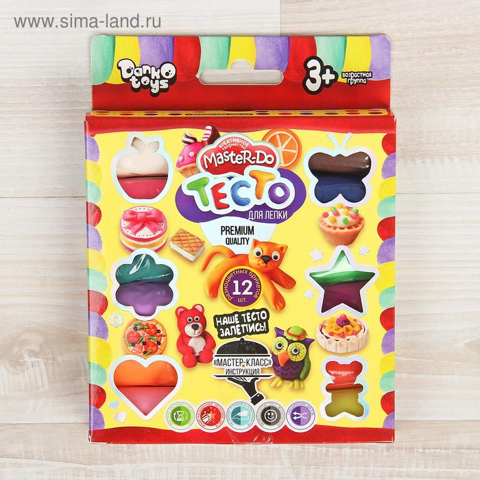 Набор для творчества «Тесто для лепки» MASTER DO, коробка эконом 12 цветов Danko Toys