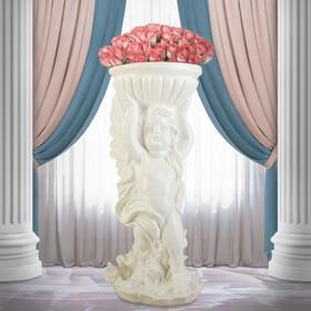 """Статуэтка """"Ангел с чашей"""", белый, 52 см"""