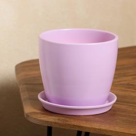 """Кашпо """"Осень"""" 2,0 л глянец фиолетовый лак"""