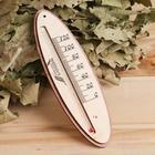 Термометр для бани жидкостный, фанера (овал)