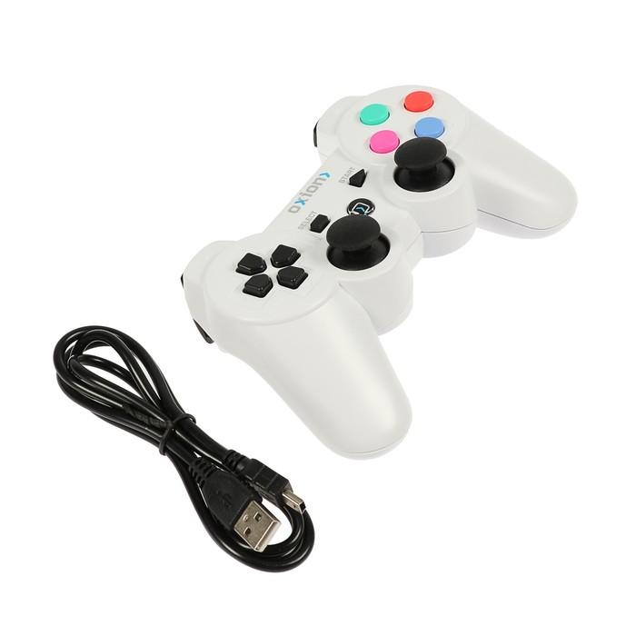 Проводной PS3 геймпад Oxion OGP04WH, отсоединяемый USB 1.5м, plug and play, белый (OGP04WH)   273711