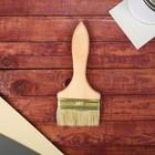 Кисть плоская, толстая, деревянная ручка, 100 х 14 мм