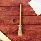 Кисть круглая, деревянная ручка, 20 мм