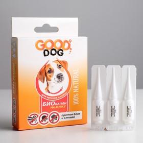БИО капли GOOD DOG для щенков и собак от блох и клещей, 4 х 2мл Ош