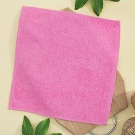 Салфетка махровая 30х30 см, цвет ярко-розовый, пл. 380 гр/м2, 100% хлопок Ош