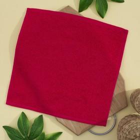 Салфетка махровая 30х30 см, цвет брусника, пл. 380 гр/м2, 100% хлопок Ош