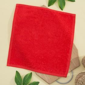 Салфетка махровая 30х30 см, цвет оранж-красный, пл. 380 гр/м2, 100% хлопок Ош