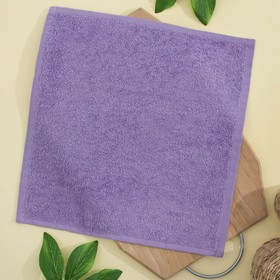 Салфетка махровая 30х30 см, цвет сирень, пл. 380 гр/м2, 100% хлопок Ош