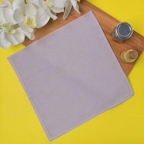 Салфетка махровая 30х30 см, цвет серый, пл. 380 гр/м2, 100% хлопок Ош
