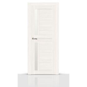 Дверное полотно остекленное БАДЖИО беленый дуб (сатинат) 2000х600