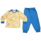 Пижама для мальчика, рост 62 см, цвет синий/жёлтый 9222_М