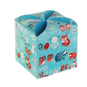Подарочная коробка 'Зверята', сборная, 9 х 9 х 9.5 см Ош