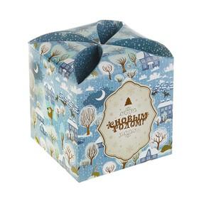 Подарочная коробка 'Зимняя сказка', сборная, 9 х 9 х 9.5 см Ош