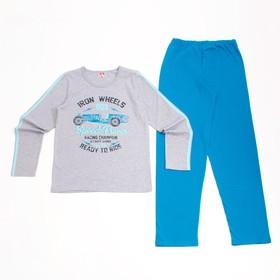 Пижама для мальчика, рост 152 см, цвет серый меланж CAJ 5296