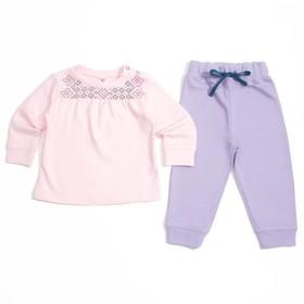 Комплект для девочки, рост 68 см, цвет розовый/сиреневый 11115_М