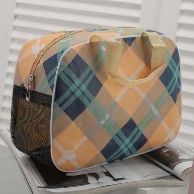 Косметичка-сумочка Виктория, 27*12*20, отдел на молнии, бежевый