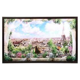"Картина ""Вид с балкона"" 64х104 см рамка микс"