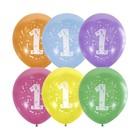 """Шар латексный 12"""" """"Цифра 1"""", пастель, 2-сторонний, набор 10 шт., цвета МИКС"""