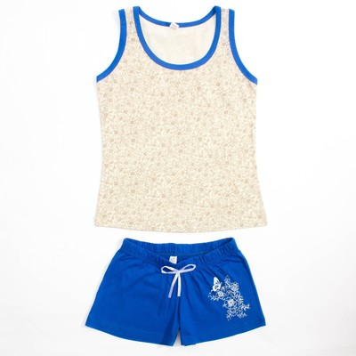 Пижама женская (майка, шорты) 31326 цвет бежевый, р-р 44