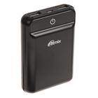 Внешний аккумулятор Power bank RITMIX RPB-10003L black, 10 000 mAh, 2xUSB 5В 2,4А
