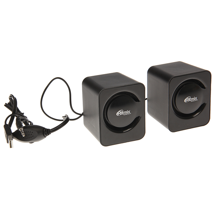 Акустическая система 2.0 RITMIX SP-2050 Black, 2х2.5Вт, USB, черные