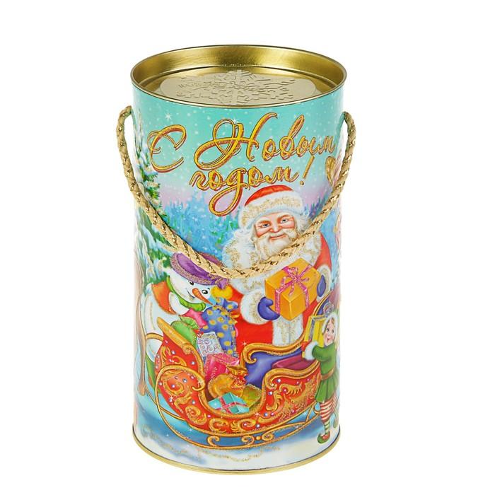 "Подарочная коробка, тубус ""Золотые эльфы"", 12 х 22 см"