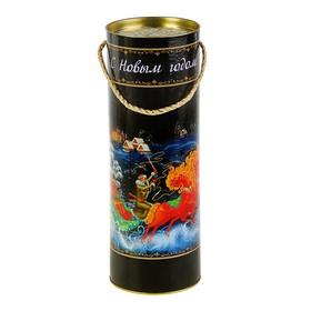 Подарочная коробка, тубус 'Зимний вечер', 12 х 34.5 см Ош