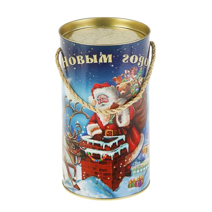 """Подарочная коробка, тубус """"Рождественская ночь"""", 12 х 22 см"""