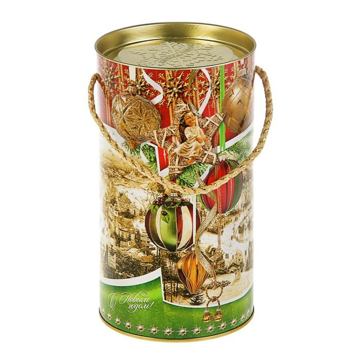 """Подарочная коробка, тубус """"Новогодние шары"""", 12 х 22 см"""