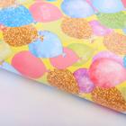 Бумага упаковочная глянцевая «Золотые шары», 70 х100 см