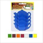 Набор подставок для чайных пакетиков 4шт цвет МИКС