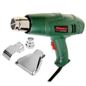 Фен технический Hammer Flex HG2000LE, 2000 Вт, 350/600С, 300/500 л/мин, насадки, тепл.защ.
