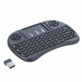 Беспроводная мини-клавиатура для ТВ и ПК, только англ раскладка, аккумулятор, USB, черная