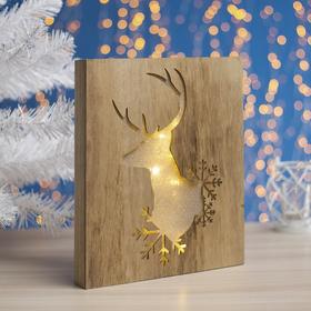 """Фигура дерев """"Снежный олень"""" 25х5х30 см (2xAA не в компл.) 10 LED, ТЕПЛО-БЕЛЫЙ"""