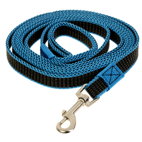 Поводок Зооник капроновый с двойной латексной нитью, 3 м х 2 см, синий