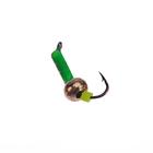 """Мормышка """"Мир вольфрама"""" Столбик с латунным шаром, зеленый d=1,5 мм"""