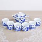 """Набор для чайной церемонии """"Пейзаж"""", 7 предметов: чайник 300 мл, 6 чашек 100 мл d=6 см"""