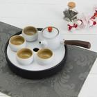 """Набор для чайной церемонии 6 предметов """"День"""" чайник, 4 чашки d=6 см, подставка"""