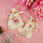 """Мешочек подарочный """"Розы ретро"""", 7*9, цвет молочный"""