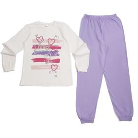Пижама для девочки, рост 146 см, цвет экрю CAJ 5315