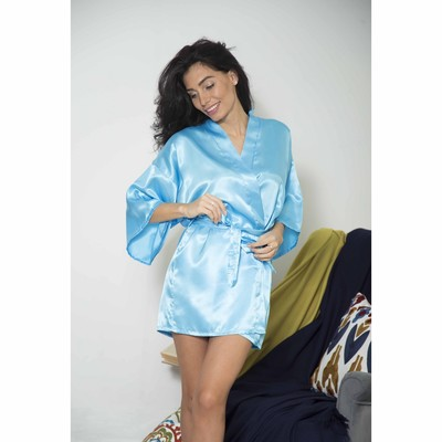 "Халат женский ""Passion"", размер 42-46 (XL), цвет голубой"