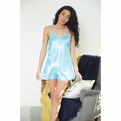 """Комплект домашний однотонный """"Passion"""" (майка, шорты), размер 42-44 (L), цвет голубой"""